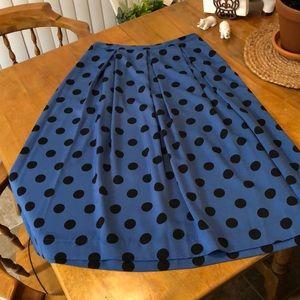 Adorable poka dot skirt.
